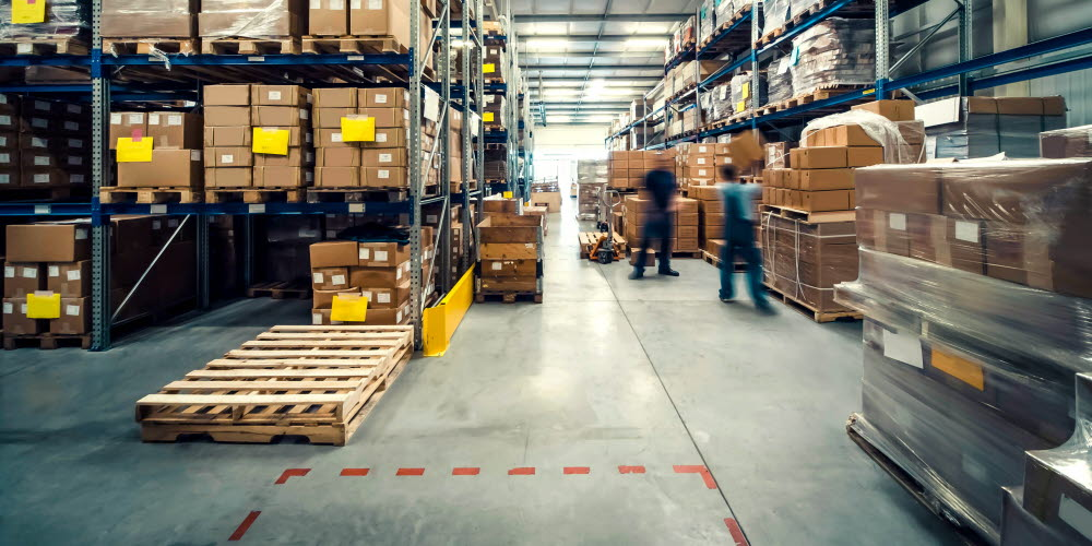 A view of a warehouse from a safety aspect