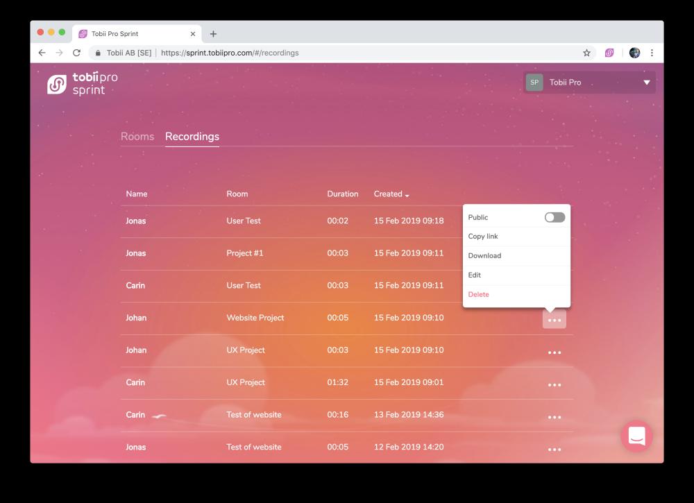 User testing with sprint-analyze