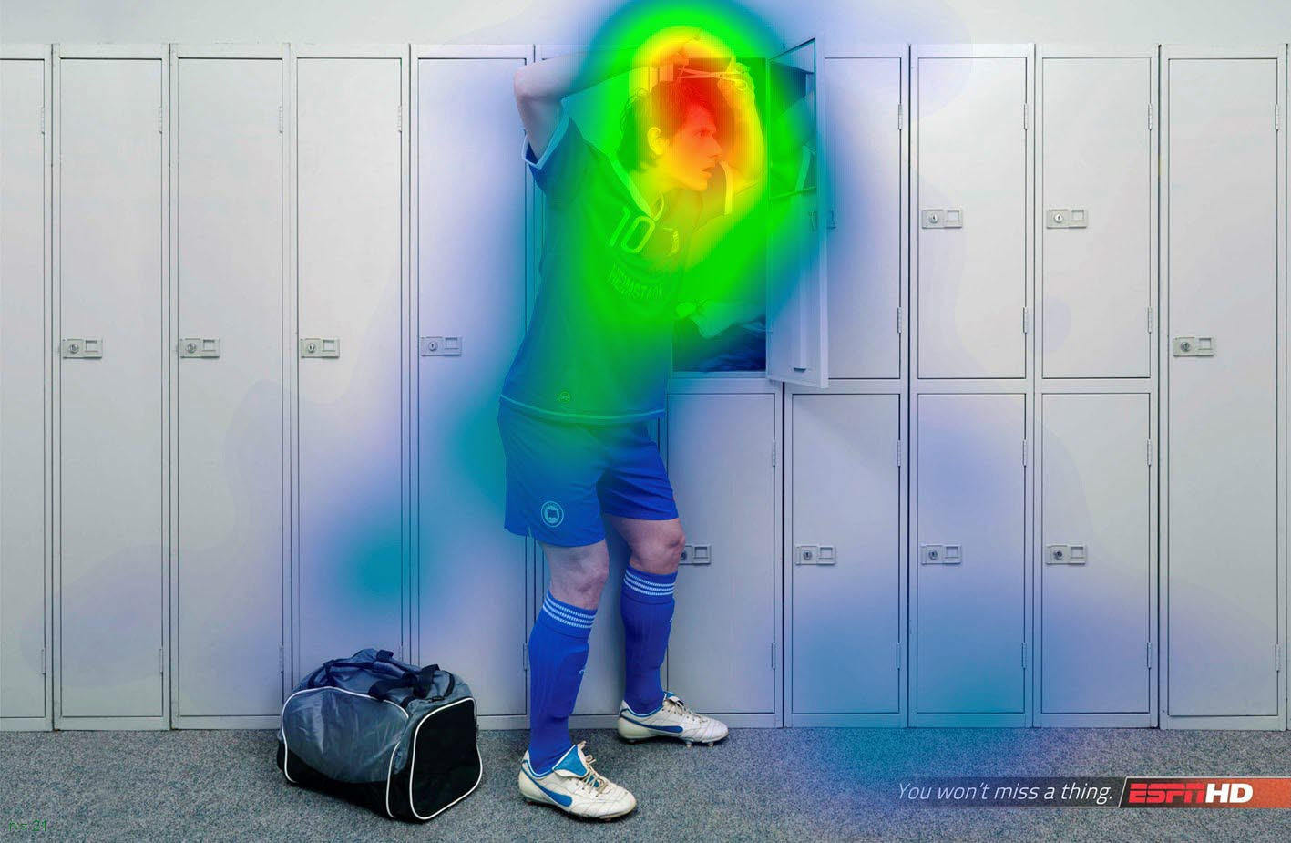 Heat map testing with Tobii Pro Sticky - ESPN