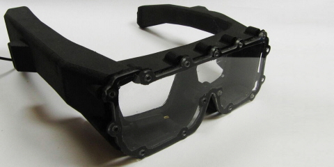 A water-housing system built to protect the Tobii Pro Glasses 2 eye tracker during surfing study.