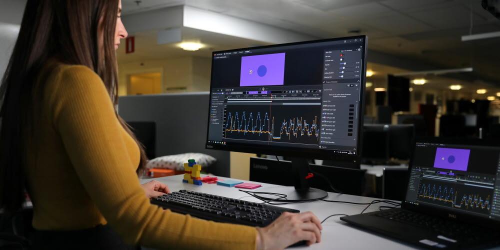 analyzing eye tracking data in a lab