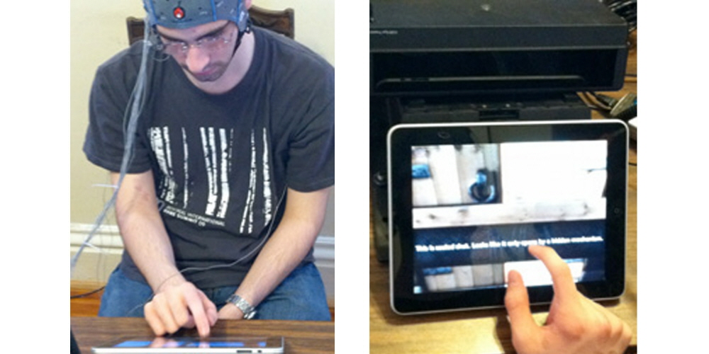 Detecting eye movements using Tobii eye tracker and brain signals during the game.