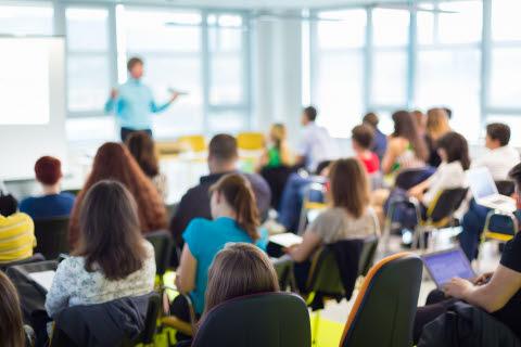 Person teaching a class