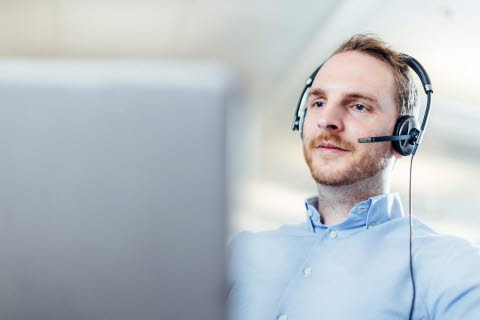 person on helpdesk at Tobii Pro Support services