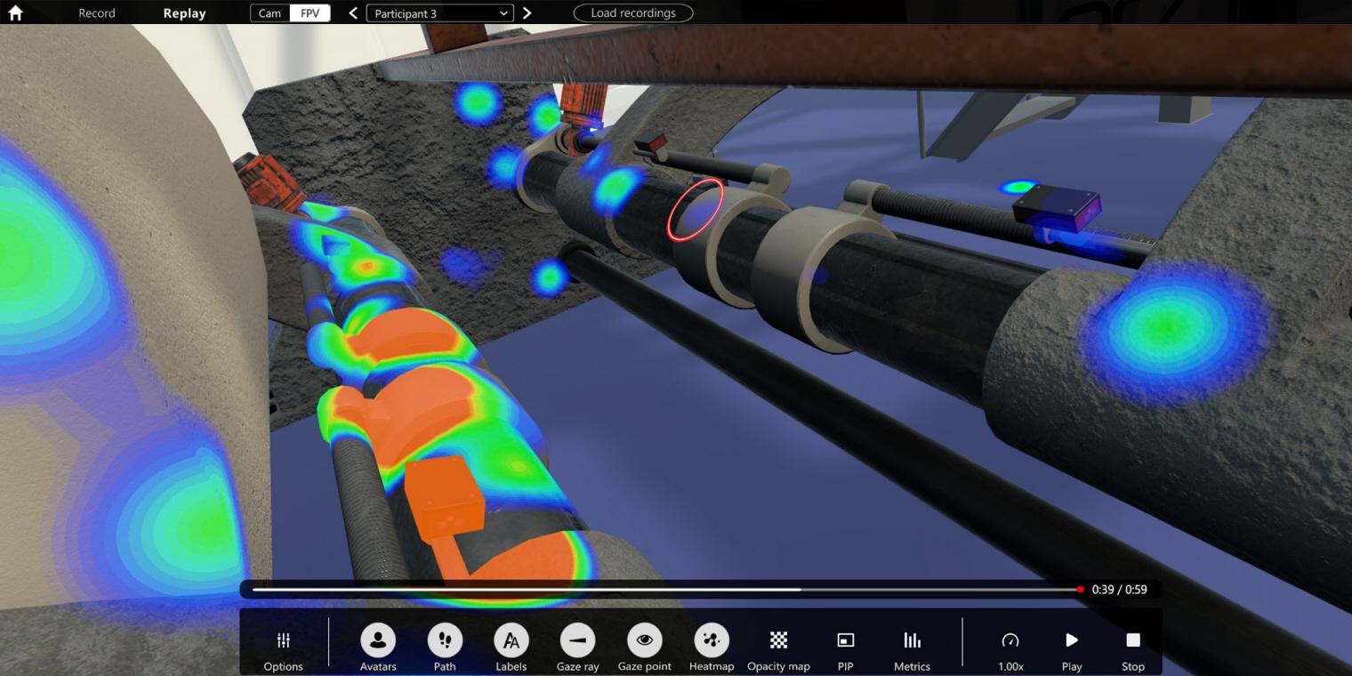 VR eye tracking industrial