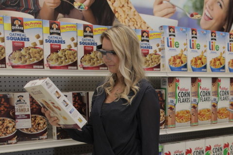 Tobii Pro Glasses 2 wearable eye tracking is used for shopper research