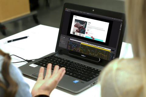 Tobii Pro Lab software on a laptop