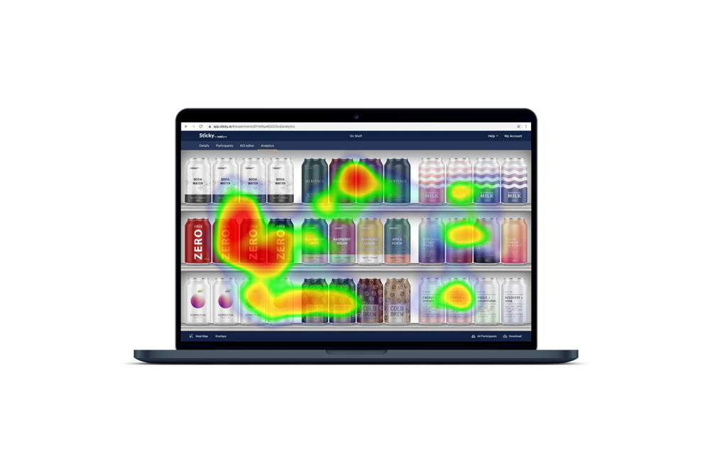 Online eye tracking gazeshare mapping with Sticky by Tobii Pro