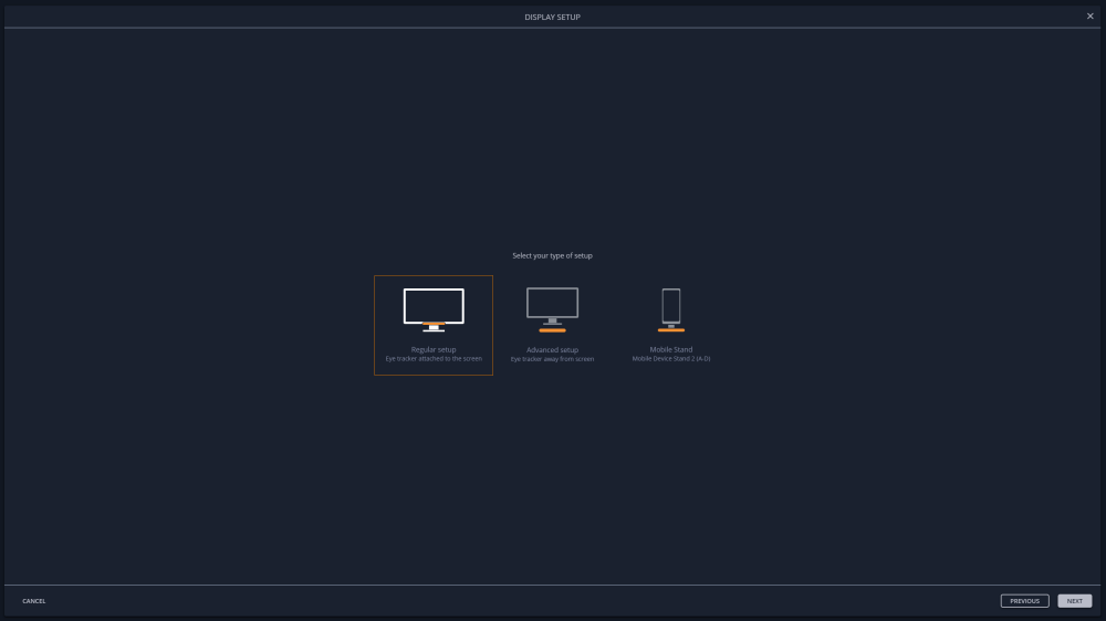 Eye Tracker Manger screen setup