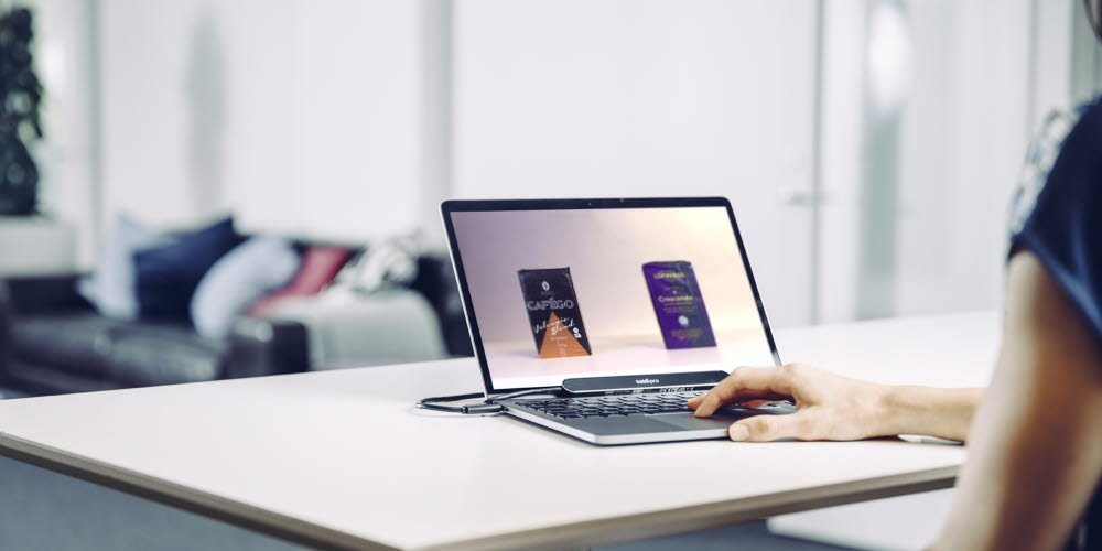 Tobii Pro Nano mounted on a laptop