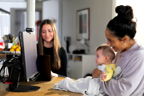 Eye tracking study small child Tobii Pro Fusion