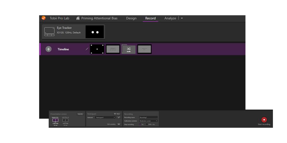Tobii Pro Lab, eye tracking software