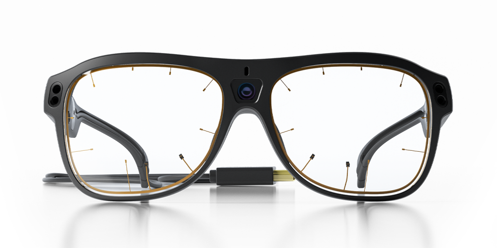 Glasses 3 wearable eye tracker front view