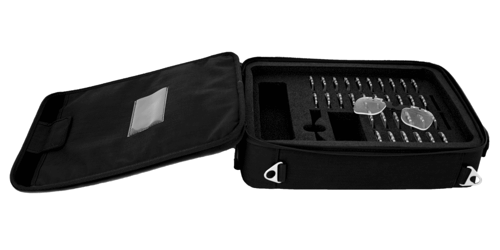 Tobii Pro Glasses 2 case with prescription lenses.