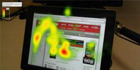 Heatmaps produced during the eye tracking study.