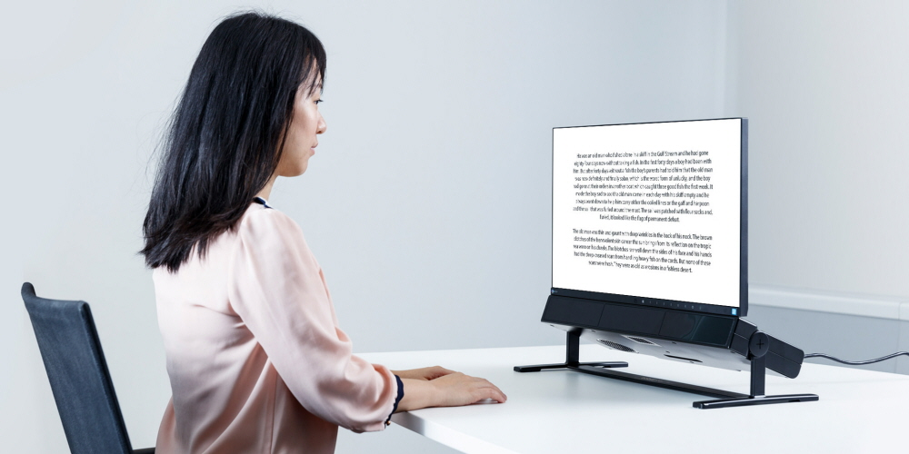 Tobii Pro Spectrum used for reading research